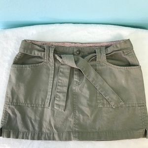 Lucky Brand Belted Army Green Skirt